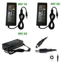 48 В AC DC адаптер зарядное устройство 48 В 1A 2A 3A 48 Вт 48 Вт 48 Вт 96 Вт 144 Вт LED POE импульсный источник питания