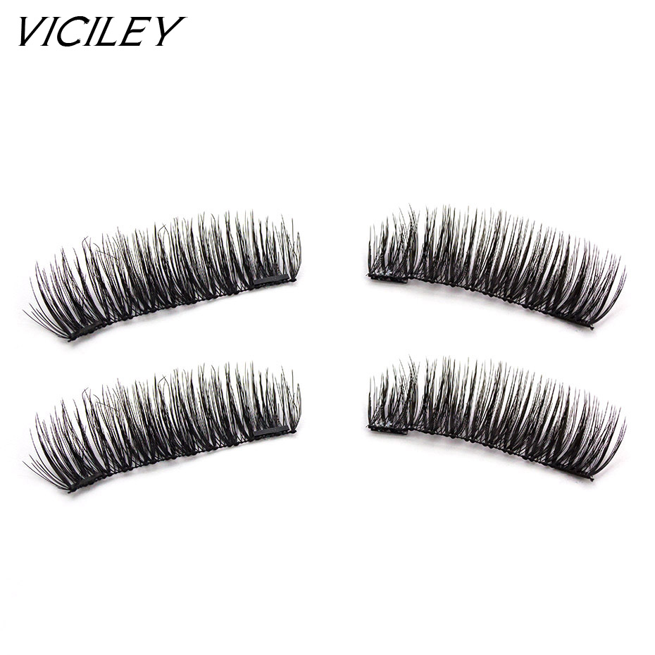 e38b701cca7 VICILEY magnetic eyelashes 6D magnet lashes with double tiny magnets  Handmade cilios Natural Eye Lashes Extension-KS04