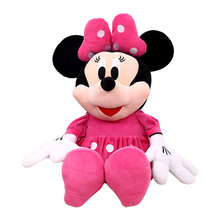 1pc 28cm Cute Mickey Mouse and Minnie Mouse Stuffed Soft Cartoon character Plush Toys Kids baby Love Dolls Classic Gifts cheap BABIQU COTTON TV Movie Character Stuffed Plush Animals PP Cotton Plush Nano Doll 3 years old Unisex