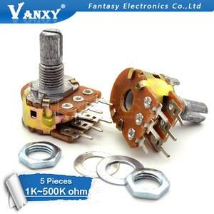 Potentiometer 1K Shaft B100K 50K 6pin 20K B5K WH148 B2K 1M 5pcs