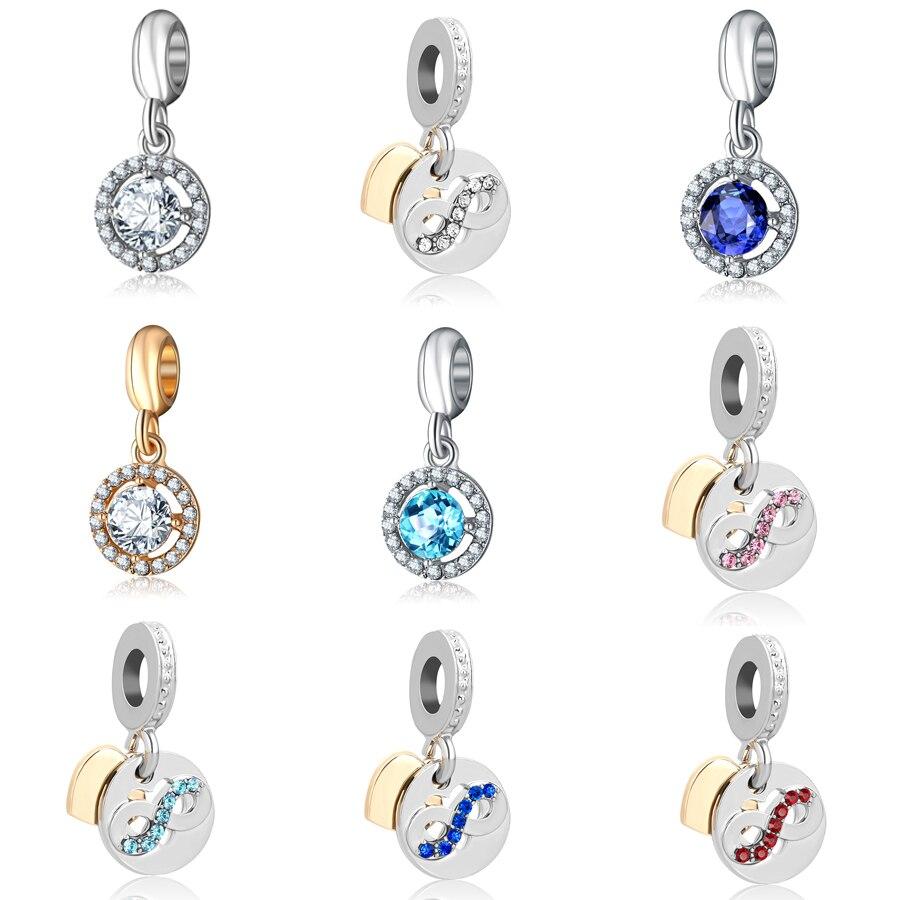 Beads & Jewelry Making Charm Silver Plated Bead Pram Eyes Handbag Infinity Heart Fit Pandora Charms Beads Bracelet Pendants Diy Original Jewelry Gift