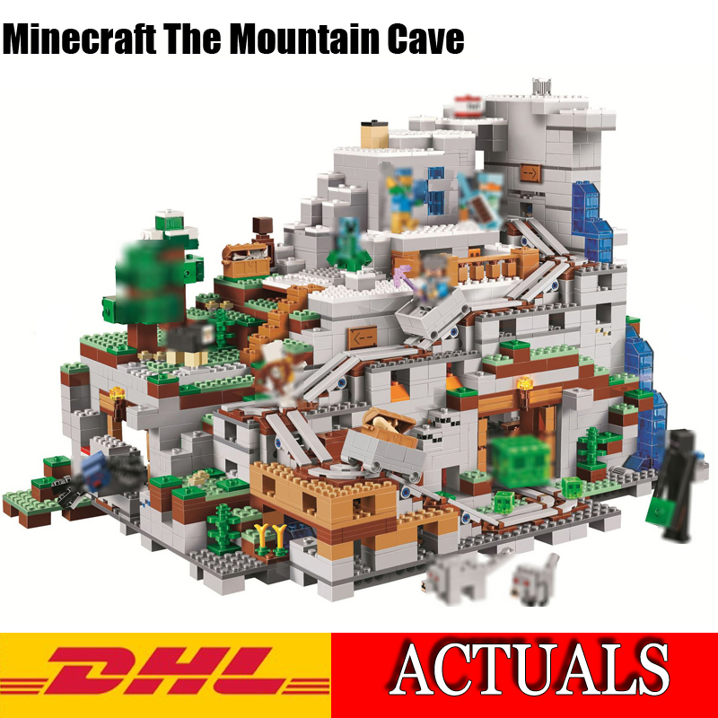 2018 Lepin 18032 2932Pcs Minecrafted Figures The Mountain Cave Model Building Kits Blocks Bricks Compatible Children Toys 21137 lepin 18032 minecrafted figures the mountain cave model building kits blocks bricks toys for children compatible legoing 21137