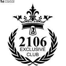 Tri Mishki HZX125 #18,6*15cm 1-5 piezas coche pegatina vaz lada 2106 Club exclusivo de pegatinas de coche