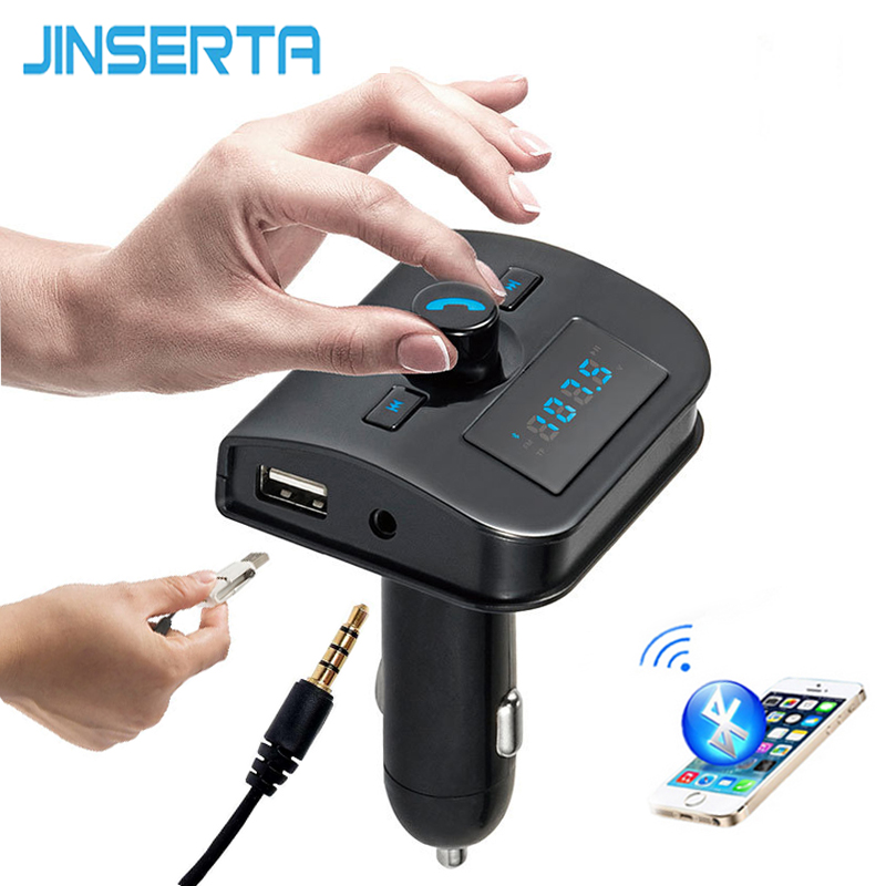 4-in-1 Hands Free Wireless Bluetooth FM Transmitter + AUX Modulator Car Kit MP3 Player TF USB LCD Car Accessories bluetooth hands free car bluetooth headset p3 player 4 0 fm transmitter