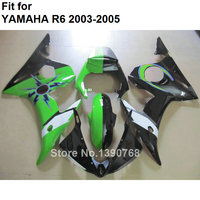 Compression molding bodyworks fairing kit for Yamaha YZFR6 2003 2004 2005 green black fairings YZF R6 03 04 05 BC56