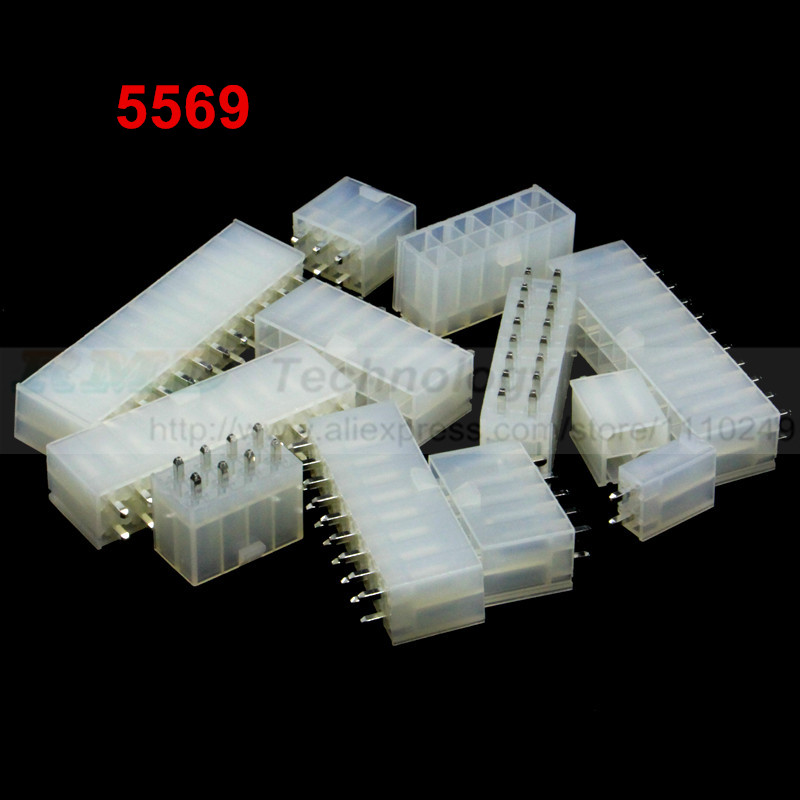 10pcs/lot 5569 For 5557 4.2 mm Automotive wiring connector straight pin female 2 - 24 pin for PC/computer graphics card on board 20set lot 5557 5559 4p 5557 5559 automotive wiring harness connector male female 4pin free shipping