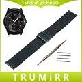 22 мм Миланской Смотреть Band для LG G Watch W100 R W110 урбанистический W150 Нержавеющая Сталь Ремешок Наручные Пояса Браслет Черный Розовое Золото серебро