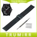 22mm venda de reloj para lg g watch w100 milanese r w110 urbano W150 Correa de Pulsera Pulsera de La Correa Negro de Oro Rosa de Acero Inoxidable plata