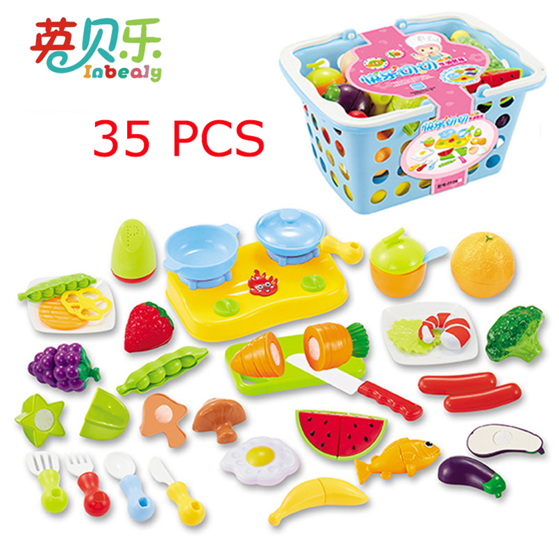 Pretend Play Simulation Fruit Vegetable Cutting Toy Children Role Play Educational Play House Kitchen Toys for Girls Kids
