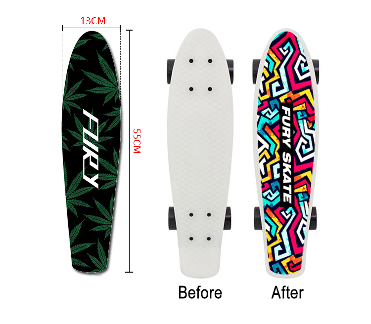 22 Inch Penny Board Sticker Anti Slip Sandpaper Skateboard Special Design Wear Resisting Replace Banana Single Double Rocker