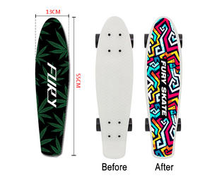 Sticker Sandpaper Skateboard Penny-Board Special-Design 22inch Wear Double-Rocker Resisting