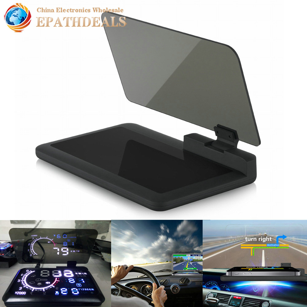 hd reflection car hud holder navigation mobile cell phone. Black Bedroom Furniture Sets. Home Design Ideas