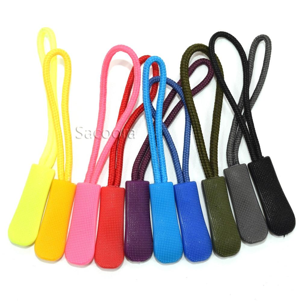 5000 stks Mix Kleur Ritsen Cord Touw Eindigt Lock Zip Clip Gesp Voor Paracord Accessoires/Rugzak/Kleding-in Ritsluitingen van Huis & Tuin op  Groep 1