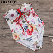 FDXAOQY 2018 NEW Style Halter Bathing Suit Push Up Sexy One Piece Swimsuit Women Swimwear Bandeau Jumpsuit Bikinis Strapless