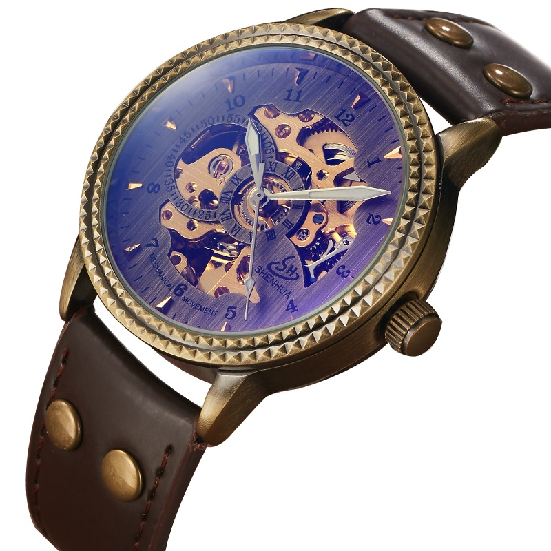 New Hot Vintage Top Brand Retro Automatic Mechnical Watches for Mens Leather Band Skeleton Mens Womens Wrist Watches Mens GiftsNew Hot Vintage Top Brand Retro Automatic Mechnical Watches for Mens Leather Band Skeleton Mens Womens Wrist Watches Mens Gifts