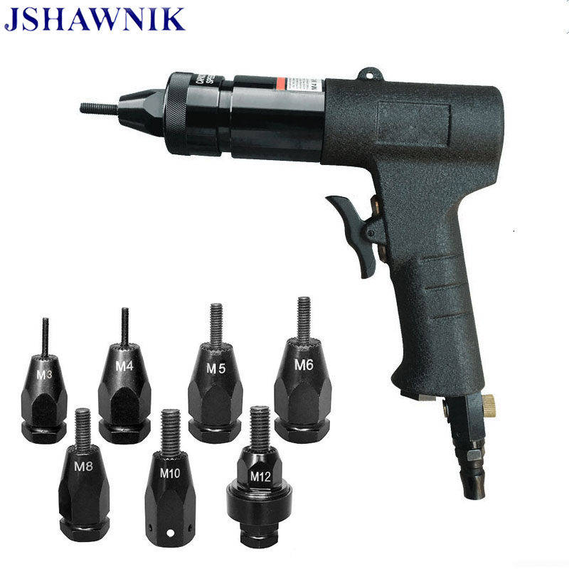Tools riveter guns Pneumatic Rivet Nut Gun Rivnut Setting Gun Riveter Air  Riveting Tool M3-M4 Electric cordless riveter gun