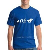 Men S Vintage T Shirt Horse Riding Evolution Cool Retro Short Sleeve Cotton Custom Tee Men