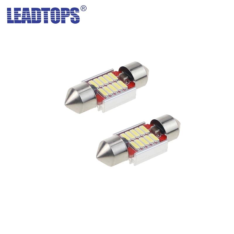 LEADTOPS 2pcs Car Interior Reading lights C5W C10W Car LED Festoon 31/36/39/41mm 5500K M ...