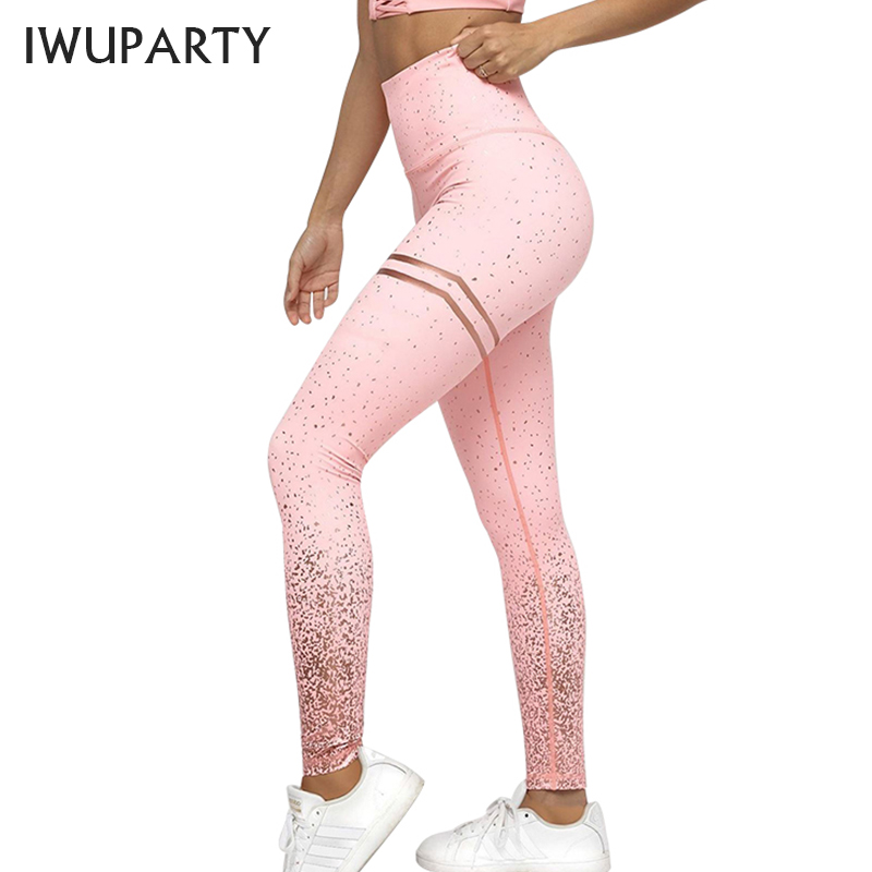 Sexy gold Printing Sport Leggings Women Athleisure High Waist Gym Fitness Leggins Mujer Push up Compression Skinny Pants Booty