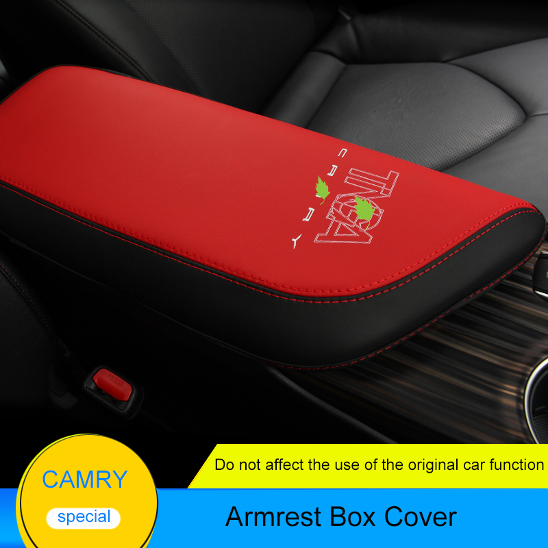 QHCP Microfiber Leather Car Center Console Armrest Box Cover Storage Protection Cushion Auto Accessories For Toyota Camry 2018 7 generation car center console armrest storage box suitable for ford focus 2 focus 3 auto accessories