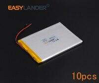 10pcs Lot 3 7V 4500mAh Rechargeable Li Polymer Li Ion Battery For Bluetooth Notebook E Book