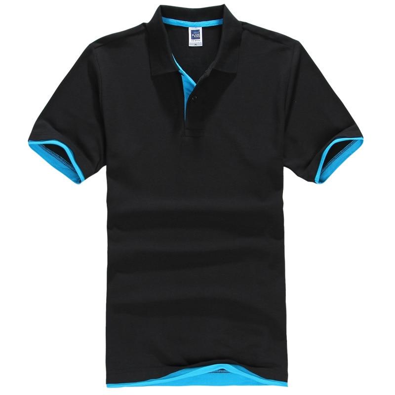 2019 Summer   T  -  shirt   Men   Shirt   Short Sleeve Men's   T  -  shirt   Europe Size Men   T     Shirt   Cotton+Polyester Turn-down Collar Dropshipping