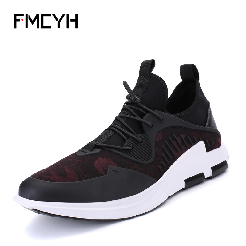 FMCYH Shoes Men Mesh Breathable Boys Sneakers Comfortable Gym Lightweight Footwear PU Leather Camouflage Man Sport Shoes Tennis