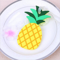 Wedding supplies Pineapple soft airplane luggage card wedding gift and favor Business advertising gifts 20pcs/lot