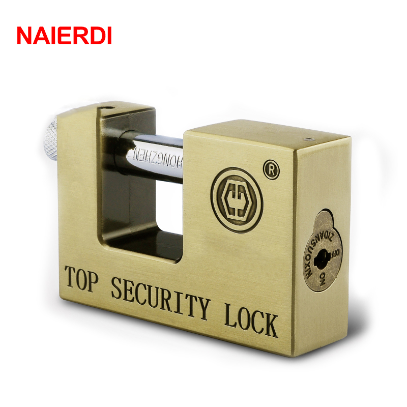 NAIERDI E9 Series Archaize Super B Grade Padlocks Safe Anti-Theft Lock Rustproof Antique Bronze Security Locks For Home Hardware 2017 new arrival goldatom super b padlock anti theft foil lock 3540 3550 3560