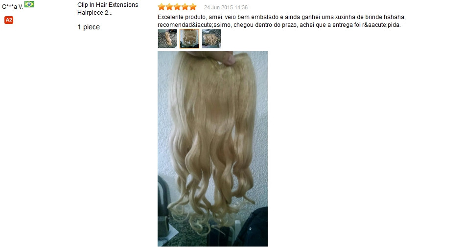 Clip In Hair Extensions Hairpiece 23inch 58cm 120g Curly Wavy Hair