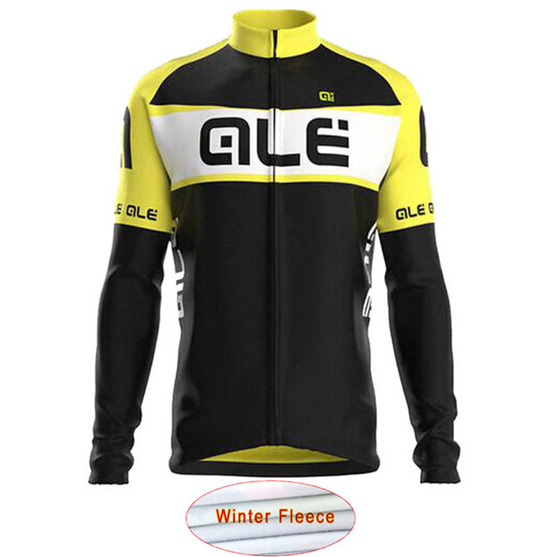 2018 ALE Bike Riding Jersey Team Cycling Apparel Winter Warm Wool Men Mountain Riding Equipment Maillot Ciclismo High Quality