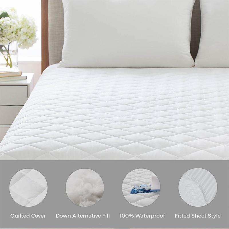160X200CM 100 Cotton Waterproof Mattress Topper Bed Bug Proof Mattress Protector Soft Pad For Bed Matress