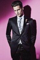 New Arrival One Button Groom Tuxedos,Fabulous Wedding Party Groomsman Suit Boys Suit (Jacket+Pants+Tie+Vest) Bridegroom Suitwedd