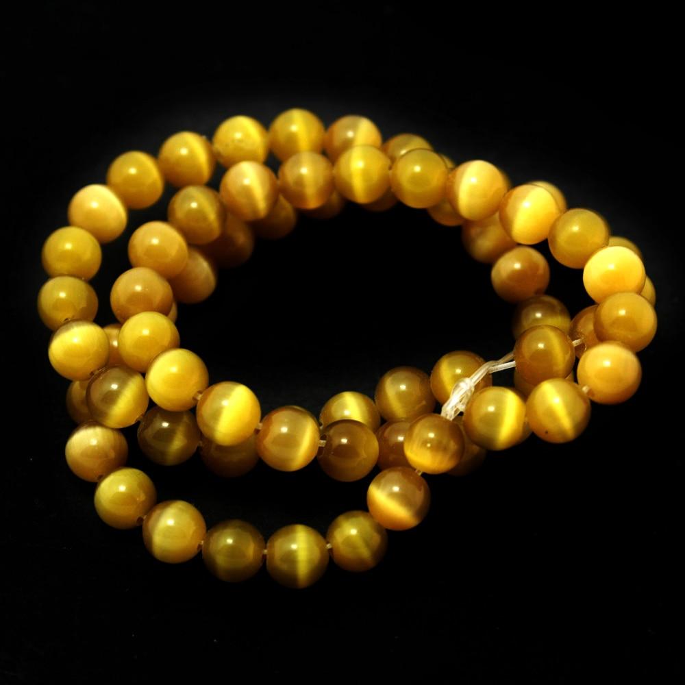 Хит продаж Тигр желтый Класс 6 мм приблизительно 135 шт./лот Круглый Cat Eye Свободные Spacer камень Бусины для DIY Craft cn-bbb002-19