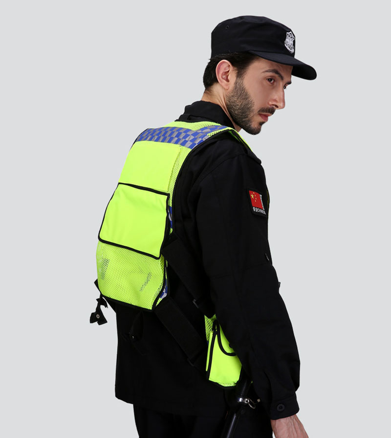 Reflective vest multi-pockets construction workwear safety protection vest traffic road fluorescent clothes outdoor work jacket (1)