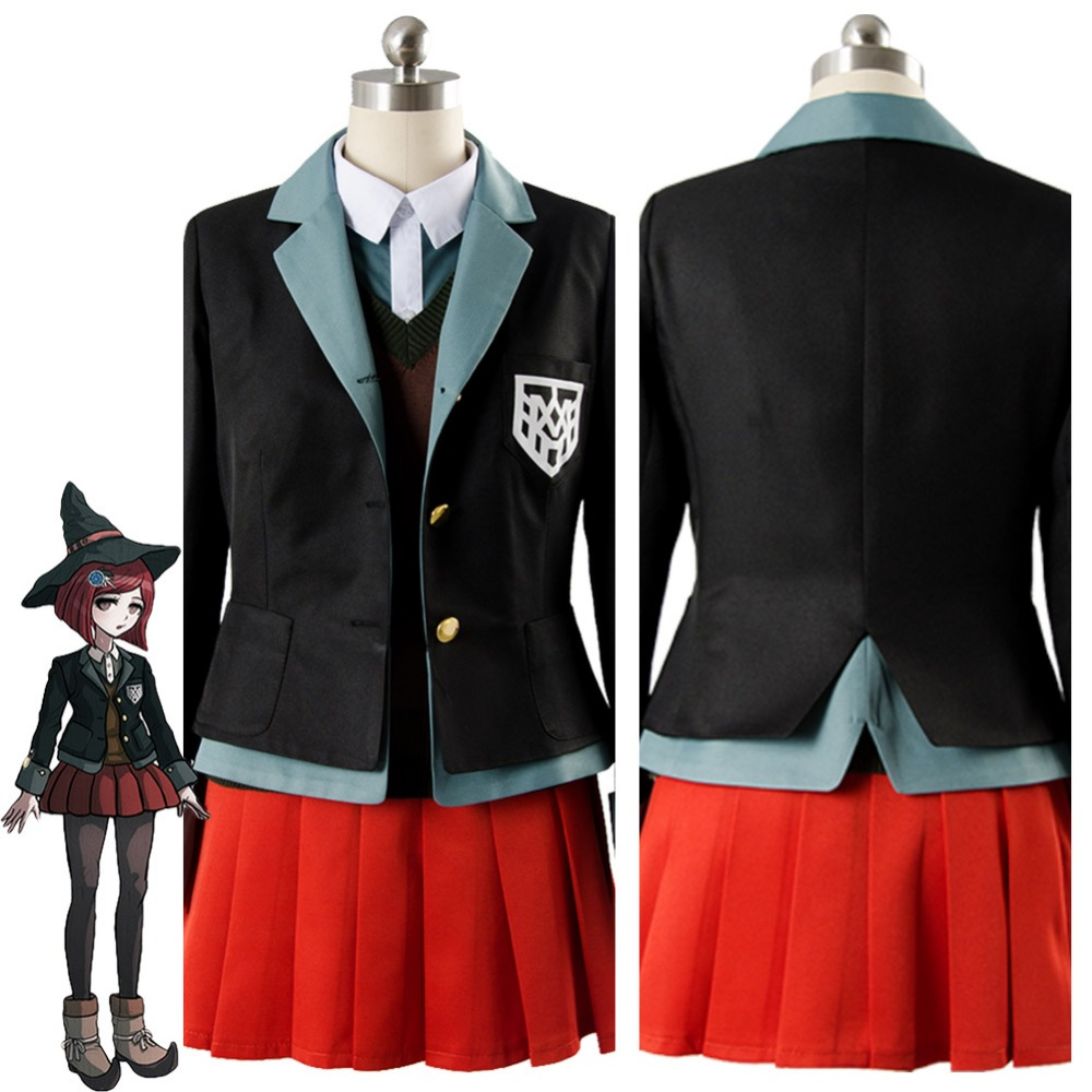 Danganronpa V3 Yumeno Himiko Cosplay Costume The New Bullet Rreaks V3 Costume Dress And Uniform Halloween Carnival