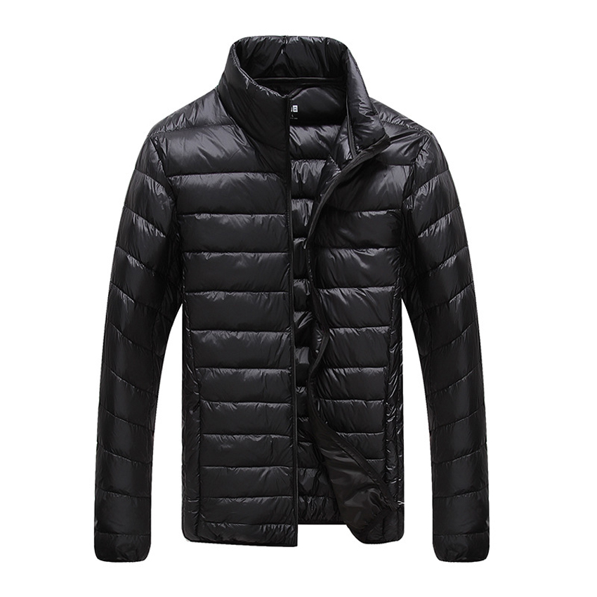 Plus Size Ultra Weightlight Thin Thermal White Goose Down Jacket Men Down Coat Outerwear Large Size M - 6XL 2016 Autumn Winter