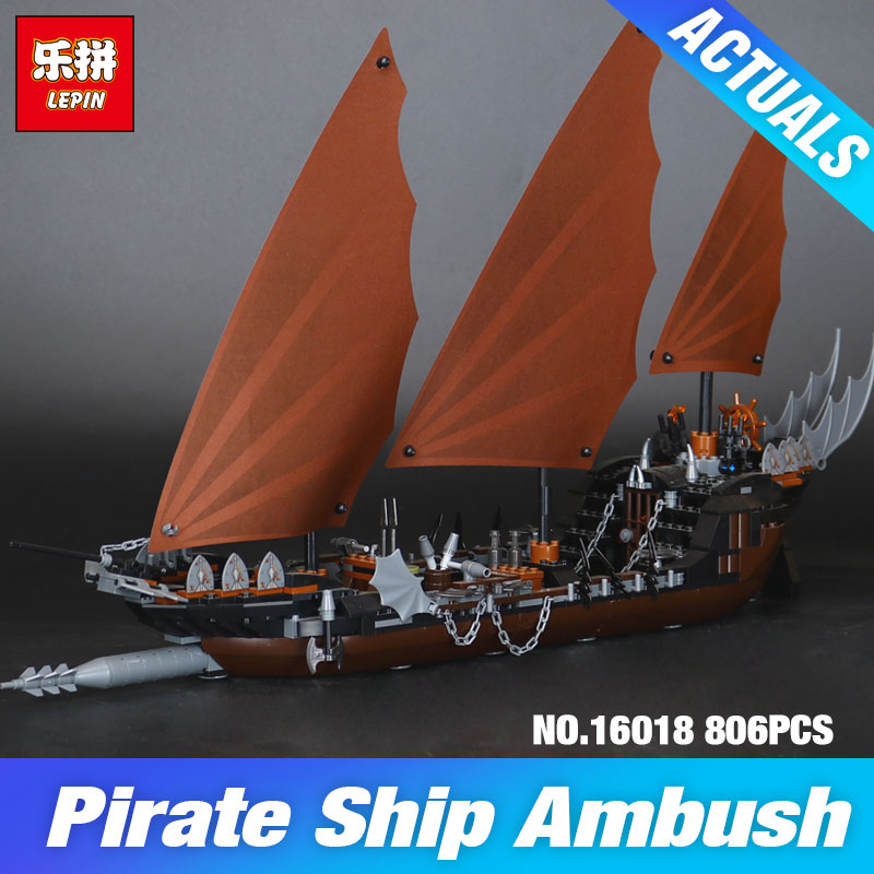 New Lepin 16018 Genuine The lord of rings Series The Ghost Pirate Ship Set Building Block Educational Brick for DIY Toys 79008 lepin movie series ghost pirate ship 16018 756pcs building block for children toys 79008 compatible legoe pirate ship