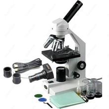 Комбинированный мощный микроскоп — AmScope поставки 40X-1600X соединение высокий мощный микроскоп + usb-камера для компьютера
