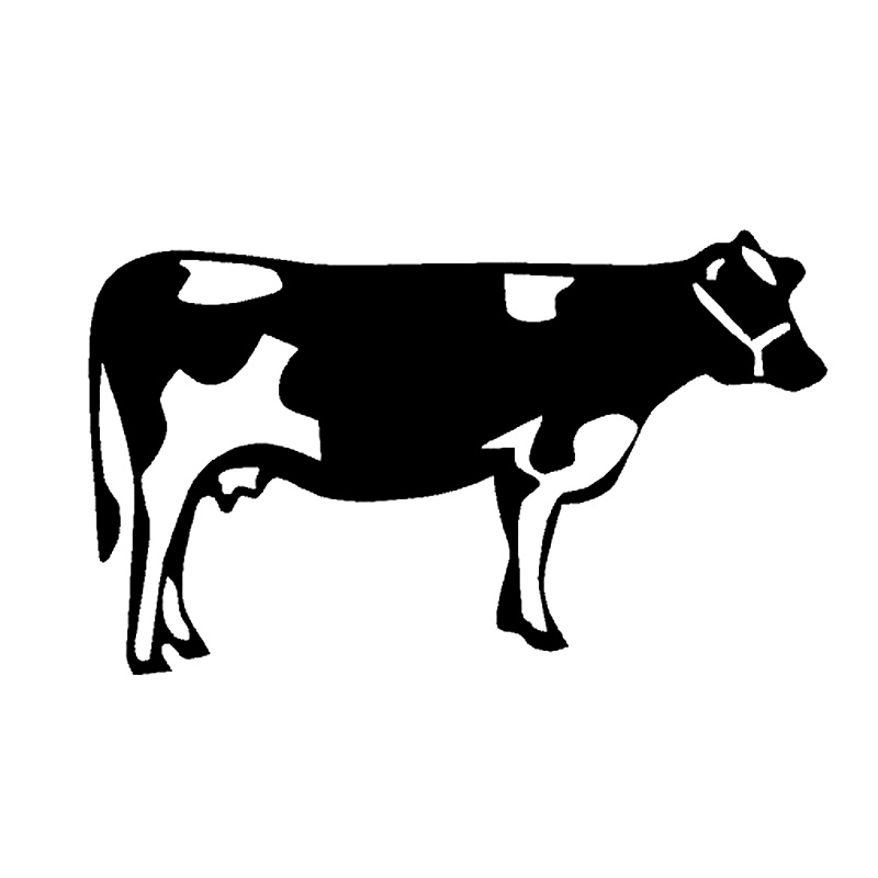 12.3cm*7.4cm Cow Farm Fashion Car Accessories Vinyl Stickers Decals Black/Silver S3-5296