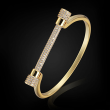 Brand Copper Bangles For Women Men Jewelry Cubic Zirconia Bracelet&bangle Women Summer Style Bangles Jewelry Bijoux Pulsera