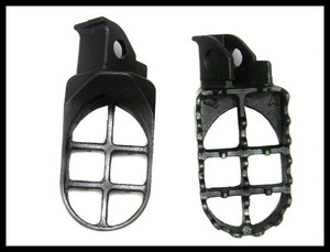 Image 3 - פלדת רגל יתדות FOOTPEGS עבור 1990 1998 סוזוקי DR250 DR350 DR650 DR 250 350 650