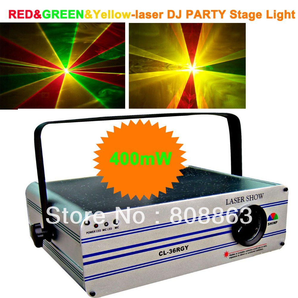 HT 400mw Green Red Yellow Laser projector Party Bar Club lighting light show DJ Disco Dance KTV Professional Stage Lights system laser stage lighting 48 patterns rg club light red green blue led dj home party professional projector disco dance floor lamp
