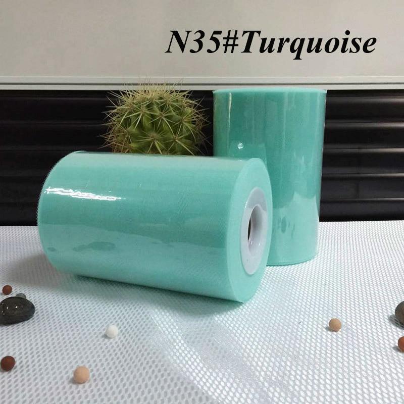/ 100% nylon Türkiz szín tutu tüll tekercs 6