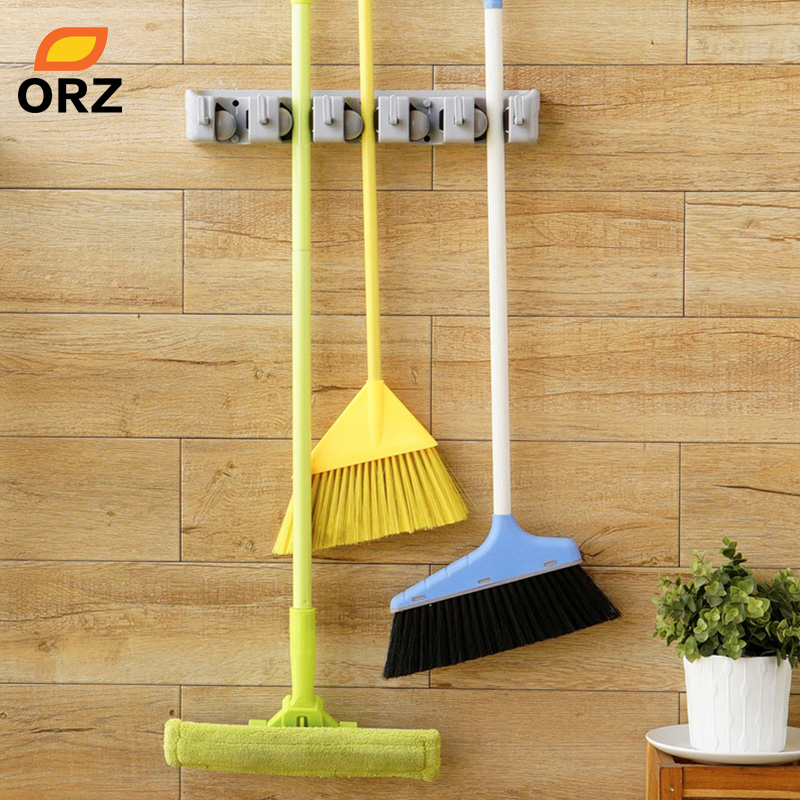Orz Abs Wall Mounted Hanger Storage Rack 5 Position