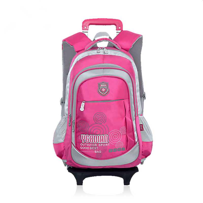 ФОТО Removable Children Trolley School Bag,backpack with wheels,kids trolley backpack,Rolling high school students Book Bag wheeled