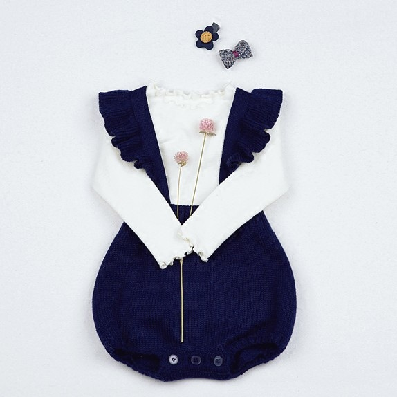cd8ea5299 Newborn baby wool jeans package fart clothing princess conjoined ...