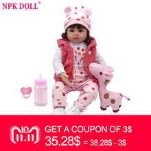 NPKDOLL Baby Reborn Doll Latest New Silicone Boneca Adorable menina Lovely 47cm/57cm soft vinyl surprise christmas gift kids