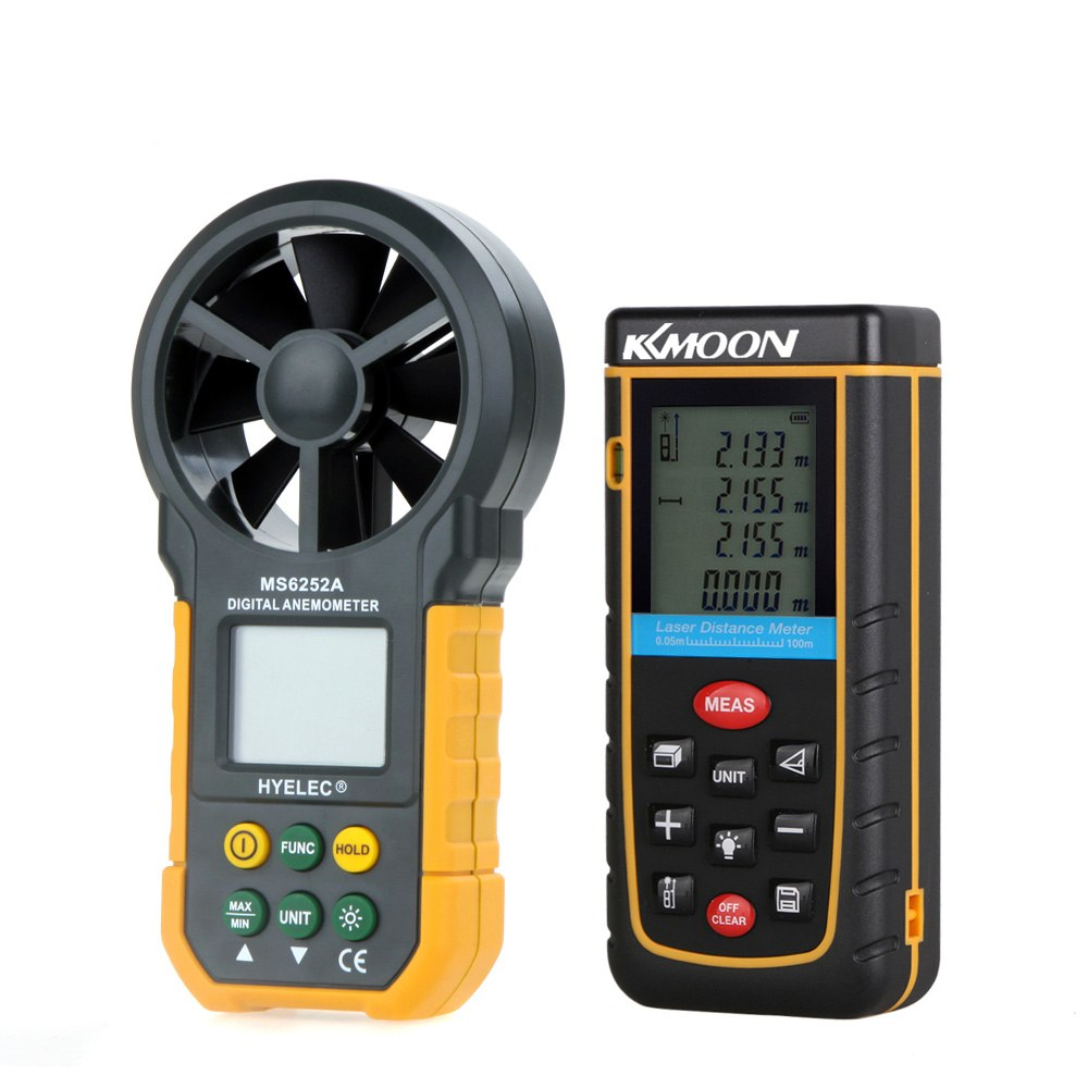 100m/328ft Digital Laser Rangefinder Distance Meter Self-calibration Level Bubble +Multifunction Digital Anemometer/Air Volume100m/328ft Digital Laser Rangefinder Distance Meter Self-calibration Level Bubble +Multifunction Digital Anemometer/Air Volume