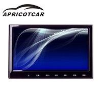 APRICOTCAR 9 дюймовый 800*480 HD сенсорный экран Экран Автомобильный подголовник автомобиля монитор заднего сиденья Дисплей DVD плеер тонкий светодио